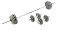 V-fit 50kg Cast Iron Weight Set